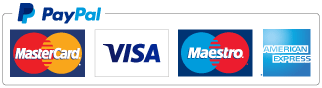 Paypal accepted (Mastercard, Visa, Maestro, American Express)